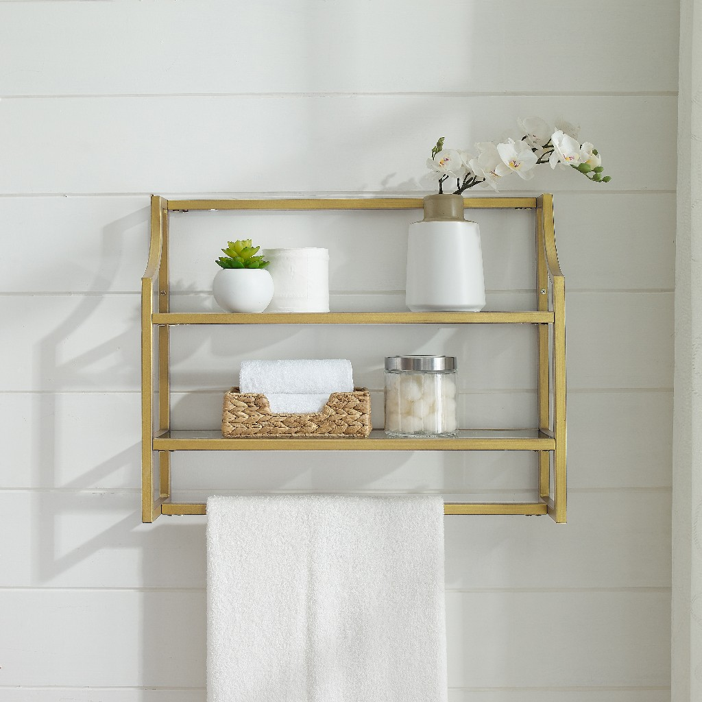 Aimee Wall Shelf Gold - Crosley CF6204-GL