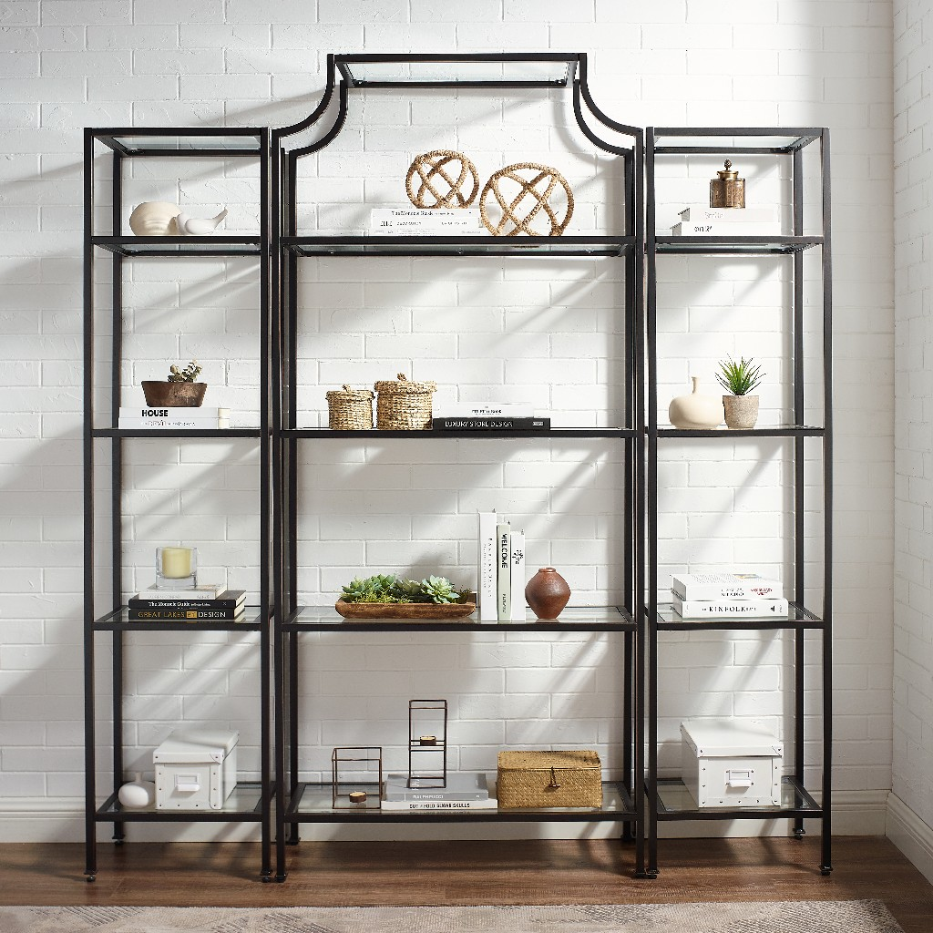 Crosley Brands Etagere Set Oil Rubbed Bronze