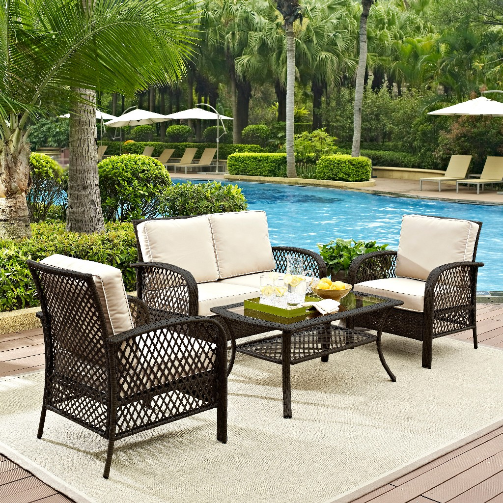 Crosley Brands Seating Set Outdoor Wicker