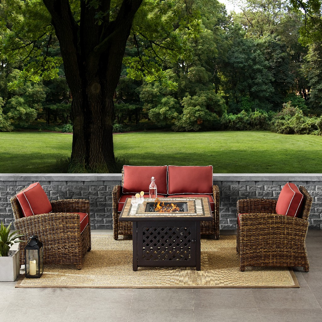 Cushion | Outdoor | Piece | Chair | Table | Fire | Seat | Set
