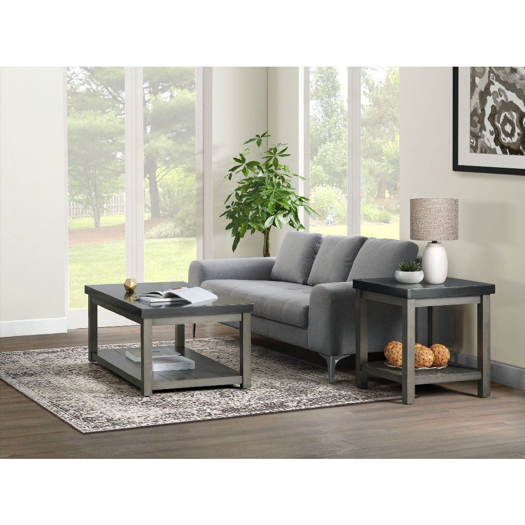 2PC Occasional Table Set in Black & Ash - Picket House Furnishings CSD8002PC