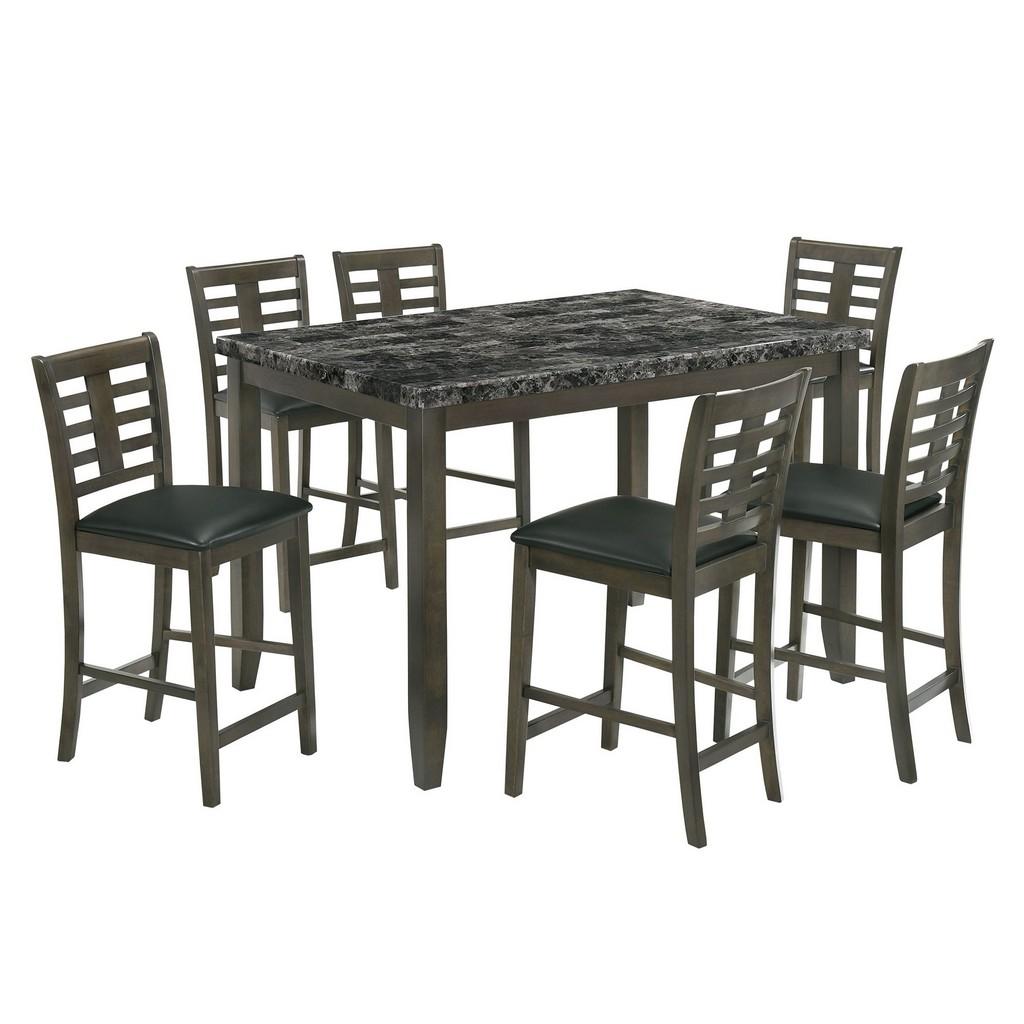 Nixon Counter Dining Set Gray