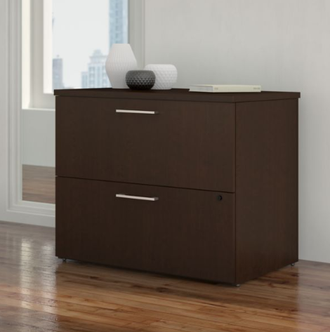 Bush Business Furniture 400 Series 36W 2 Drawer Lateral File Cabinet in Mocha Cherry - 400SFL236MRK