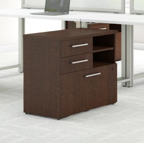 Bush Business Furniture 400 Series 30W File Cabinet in Mocha Cherry - 400SFP30MR