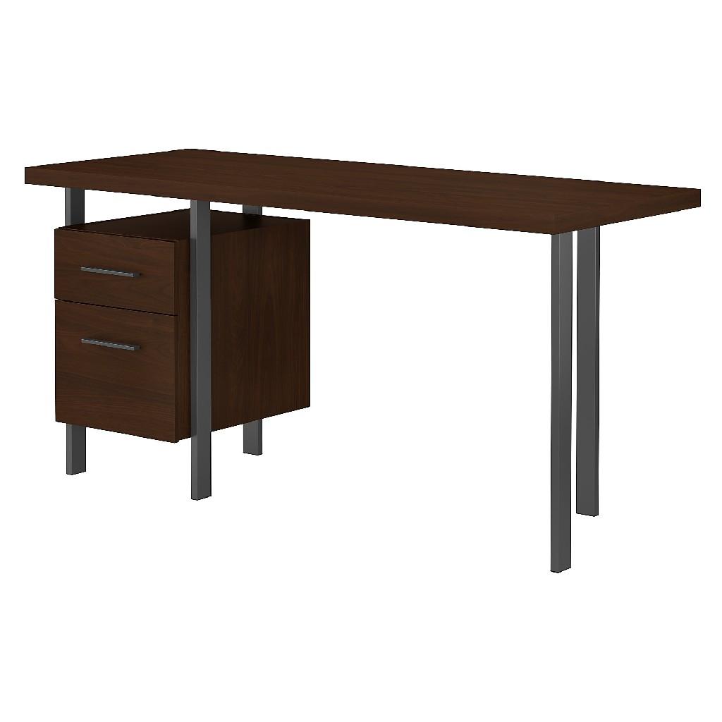 Bush Furniture Architect 60W Writing Desk w/ Drawers in Modern Walnut - Bush Furniture ACD160MW-03