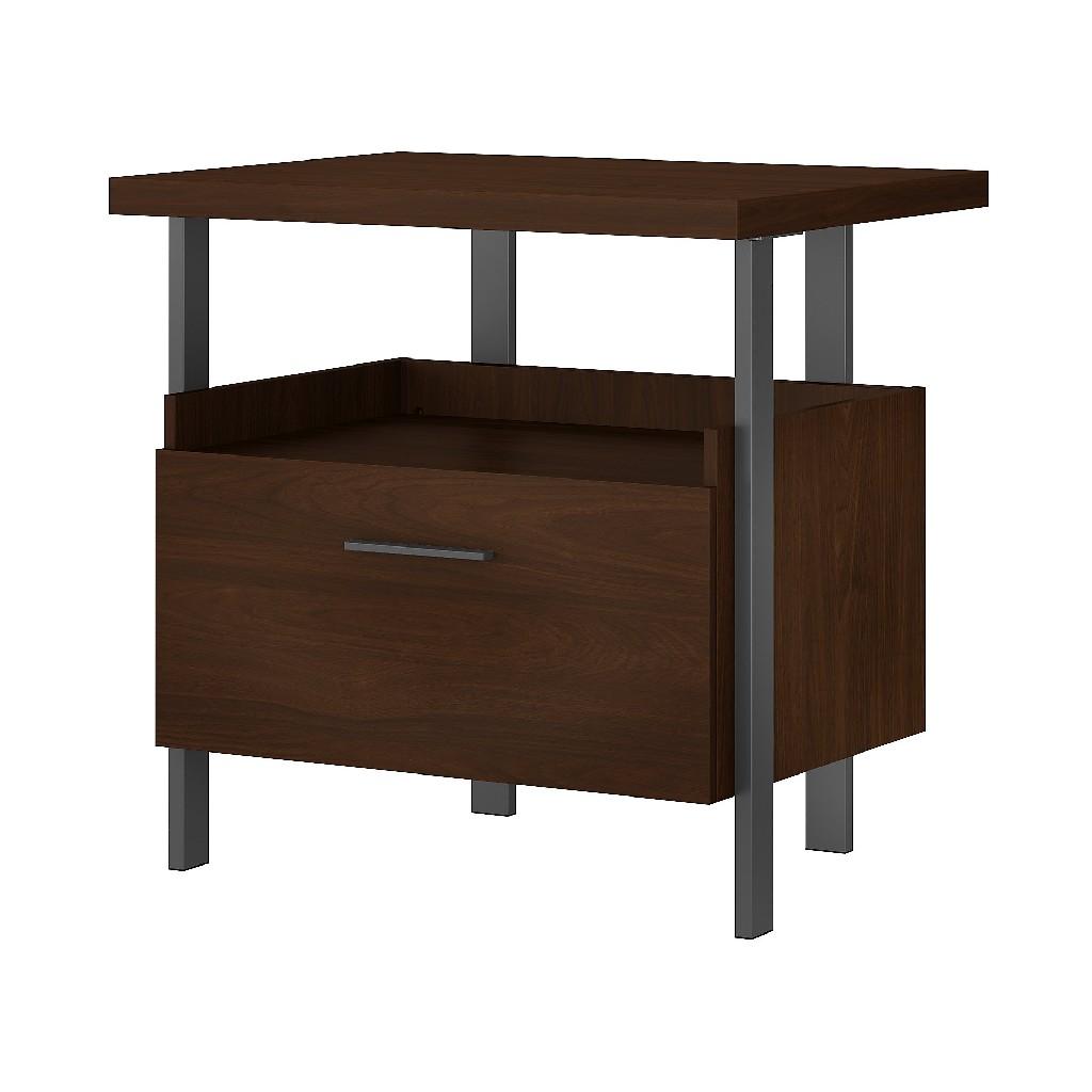 Bush Furniture Architect 1 Drawer Lateral File Cabinet in Modern Walnut - Bush Furniture ACF131MW-03
