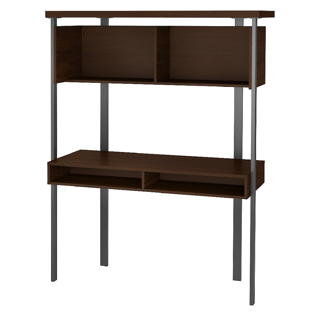 Bush Furniture Architect Small Computer Desk w/ Hutch in Modern Walnut - Bush Furniture ACU152MW-03