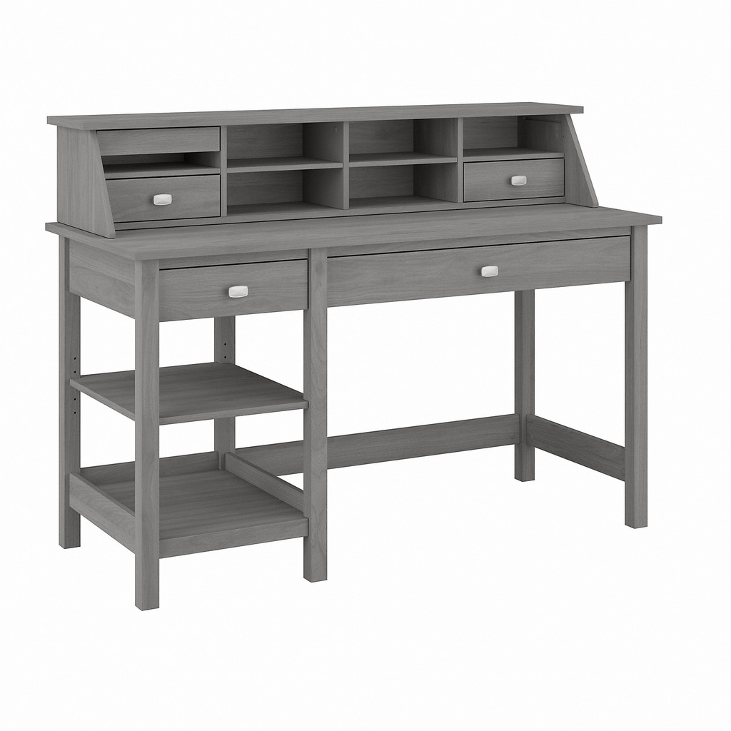 Bush Furniture Broadview 54W Computer Desk with Shelves and Desktop Organizer in Modern Gray - Bush Furniture BD001MG