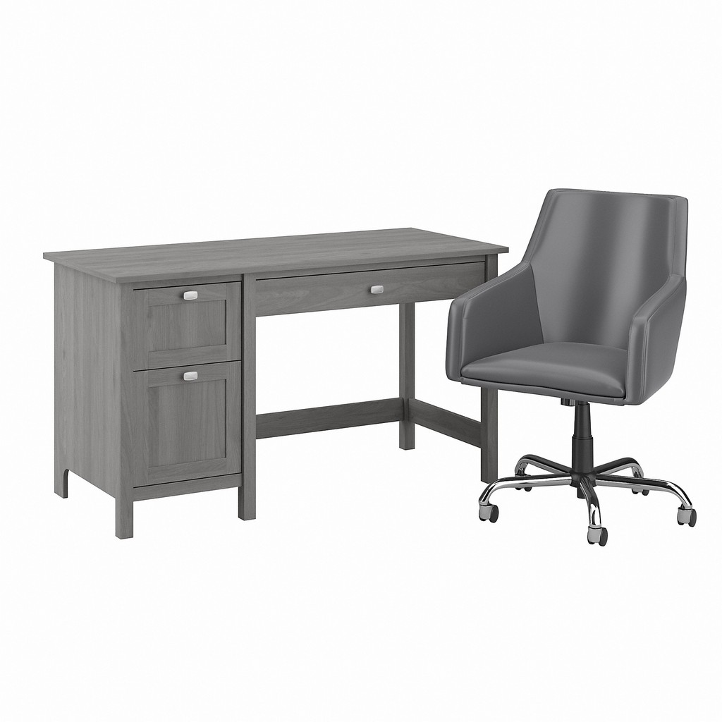 Bush Furniture Broadview 54W Computer Desk and Chair Set in Modern Gray - Bush Furniture BD021MG