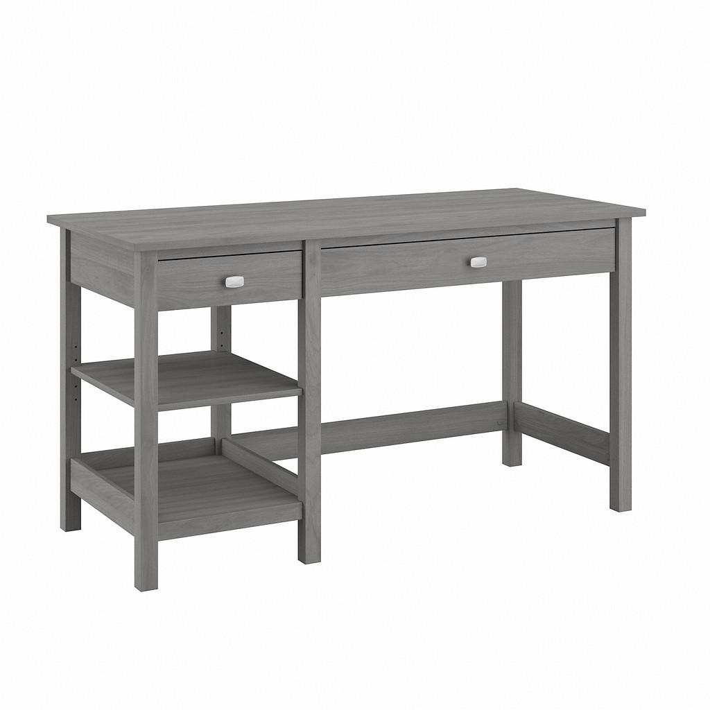 Bush Furniture Broadview 54W Computer Desk with Shelves in Modern Gray - Bush Furniture BDD154MG-03