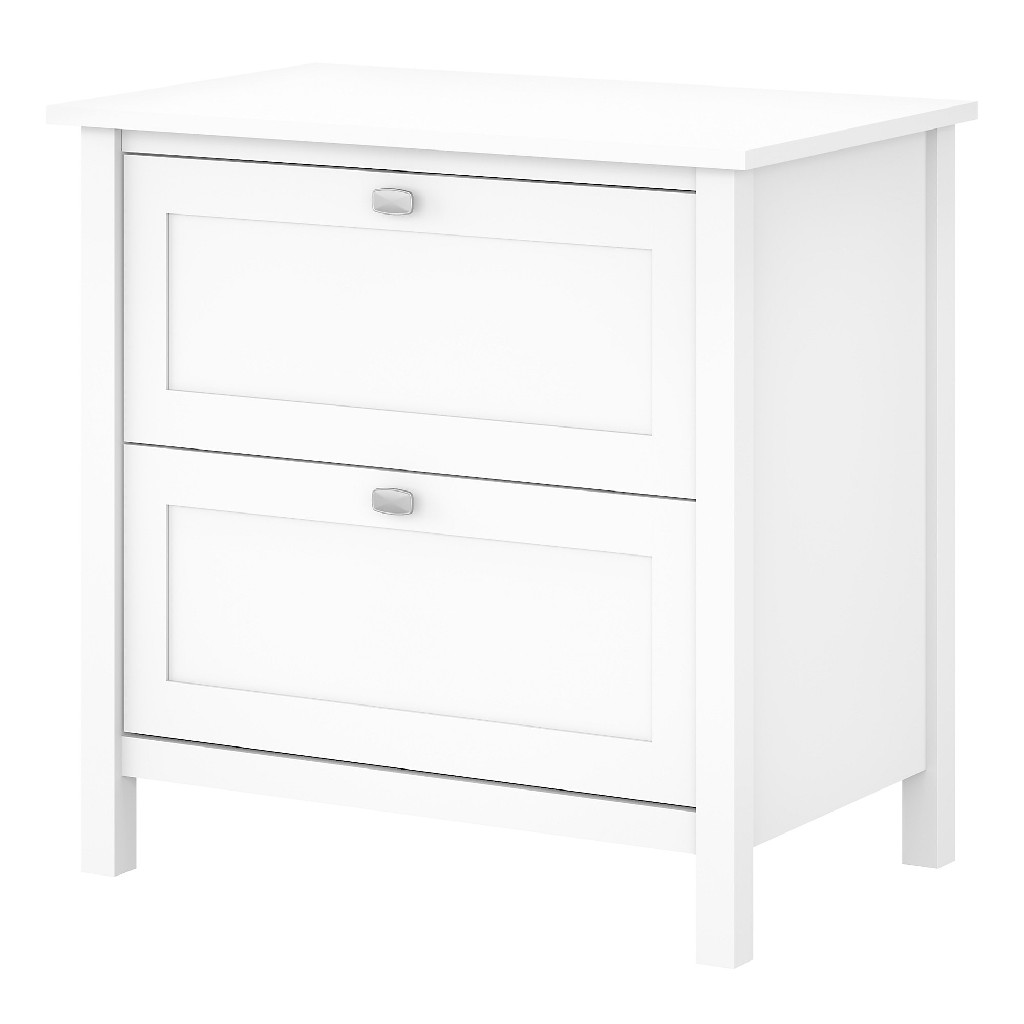 Bush Furniture Broadview 2 Drawer Lateral File Cabinet in Pure White - BDF131WH-03