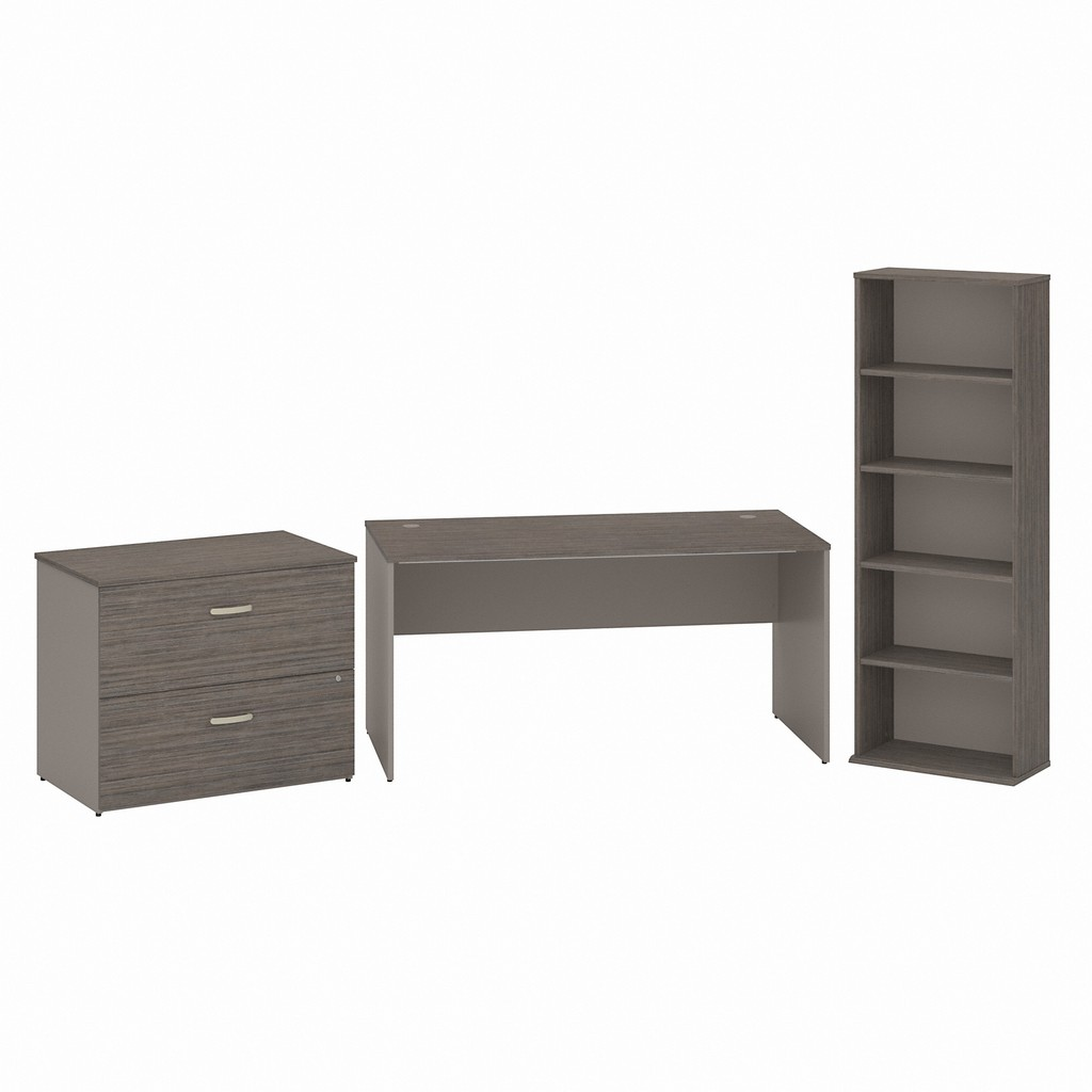 Office Desk Drawer Lateral File Cabinet Bookcase Cocoa Pewter
