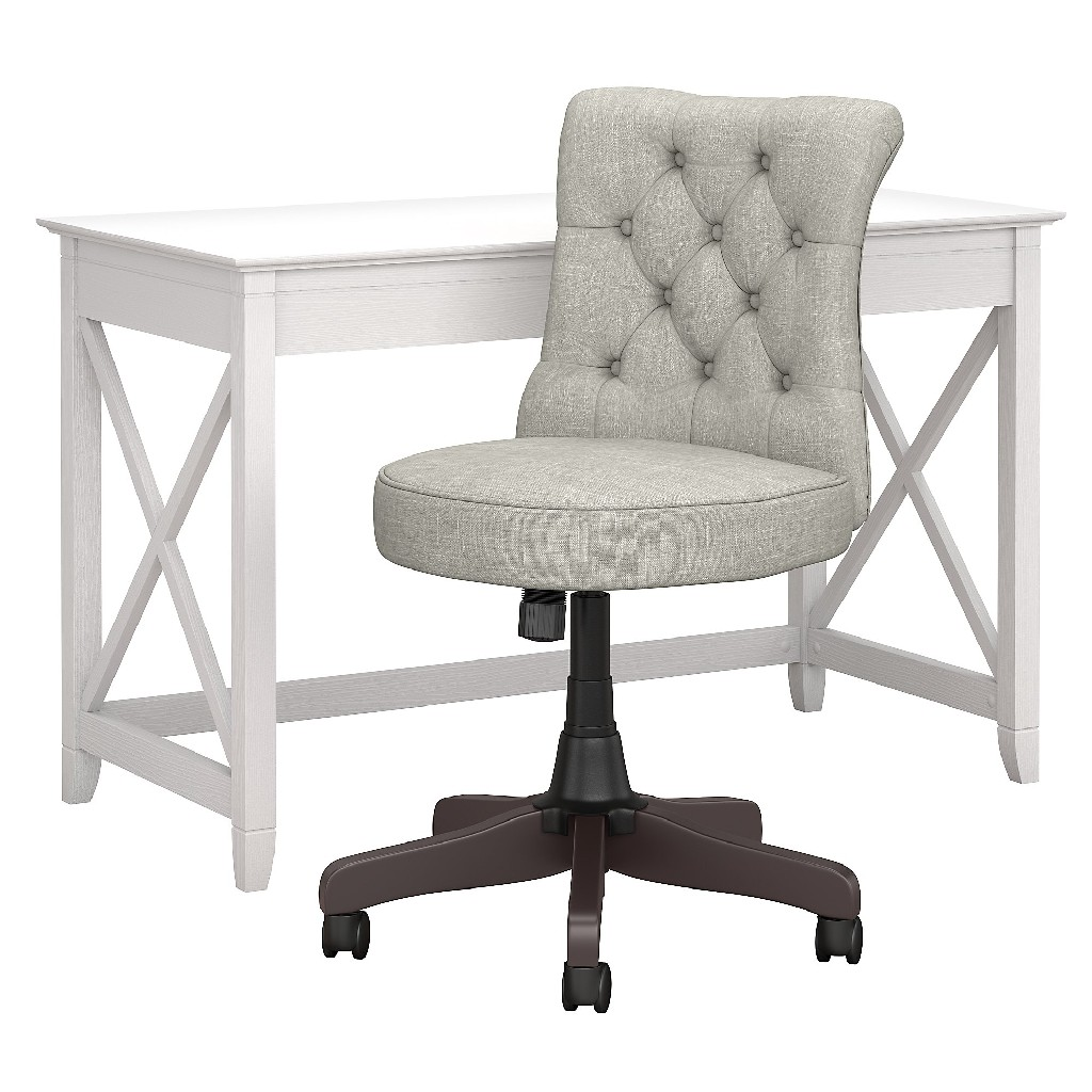Furniture | Tufted | Office | Chair | White | West | Desk | Back