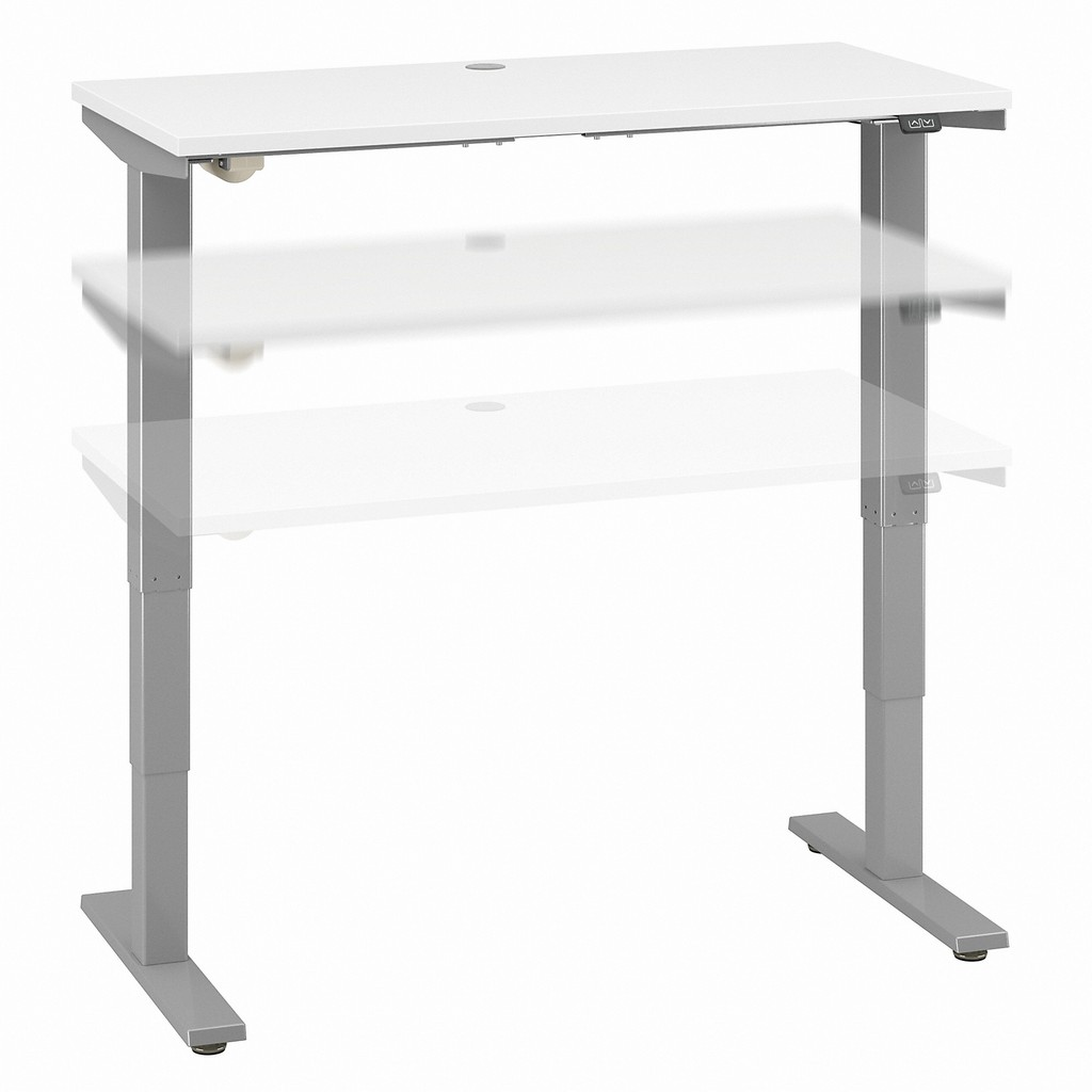 Move 40 Series by Bush Business Furniture 48W x 24D Electric Height Adjustable Standing Desk in White - Bush Furniture M4S4824WHSK