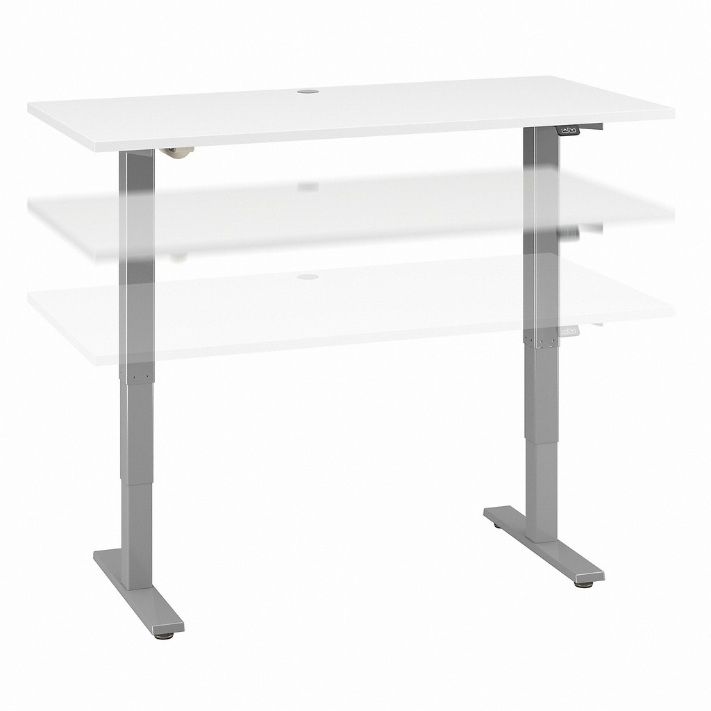 Move 40 Series by Bush Business Furniture 60W x 30D Electric Height Adjustable Standing Desk in White - Bush Furniture M4S6030WHSK