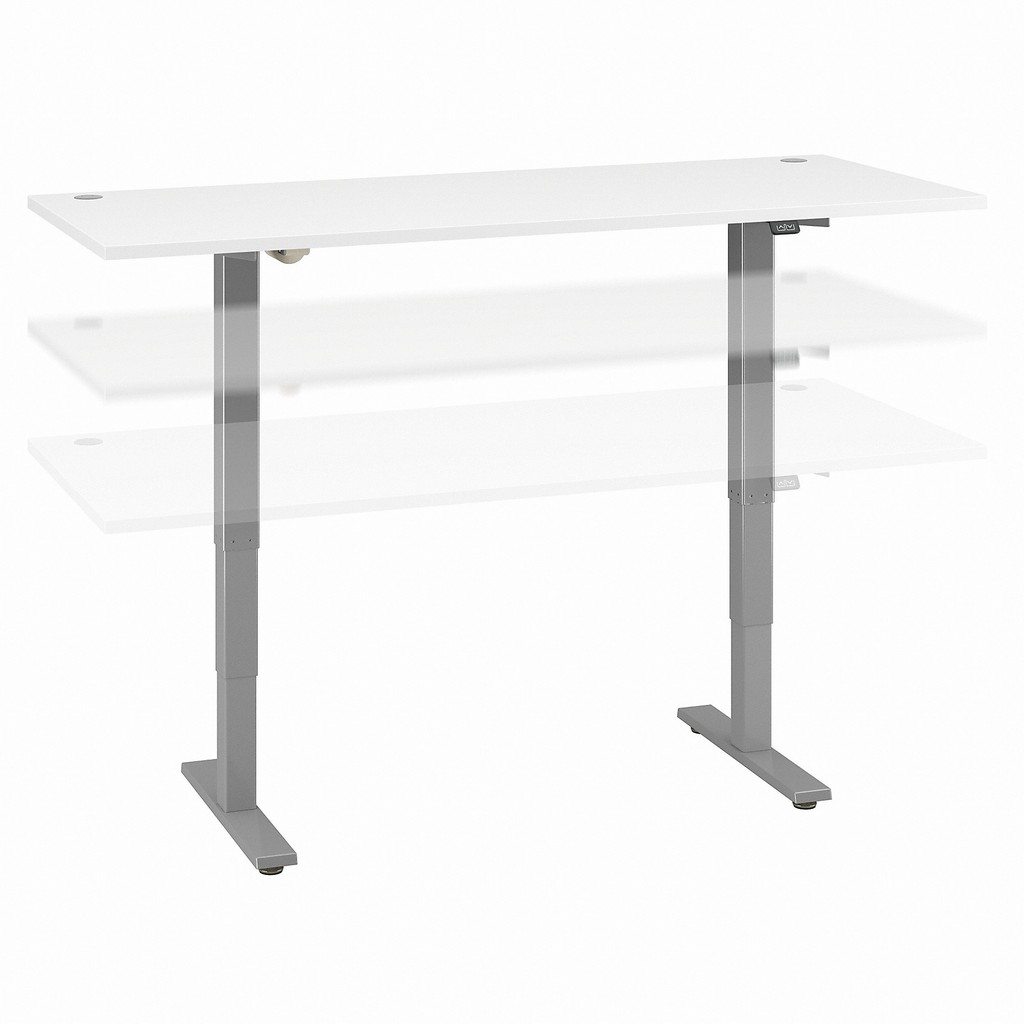 Move 40 Series by Bush Business Furniture 72W x 30D Electric Height Adjustable Standing Desk in White - Bush Furniture M4S7230WHSK