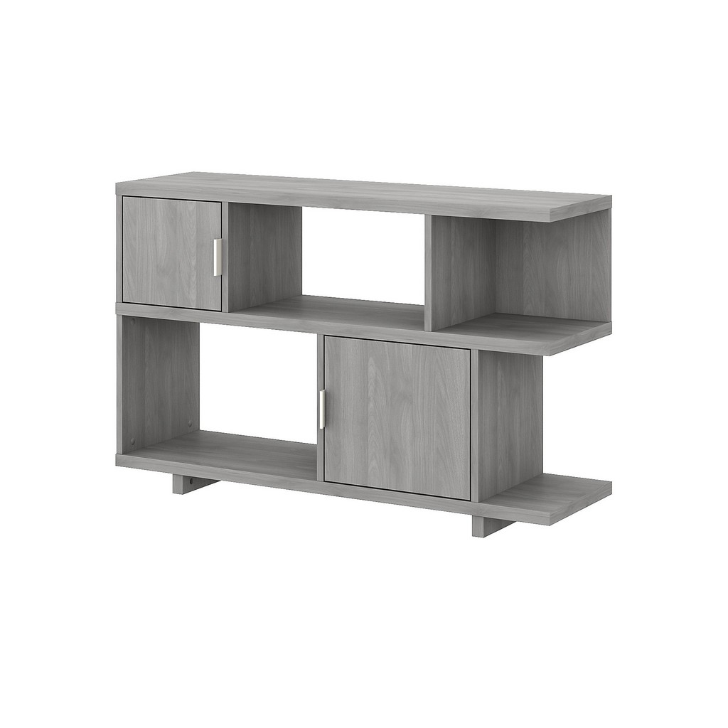 kathy ireland® Home Madison Avenue Console Table with Storage in Modern Gray - Bush Furniture MDS015MG