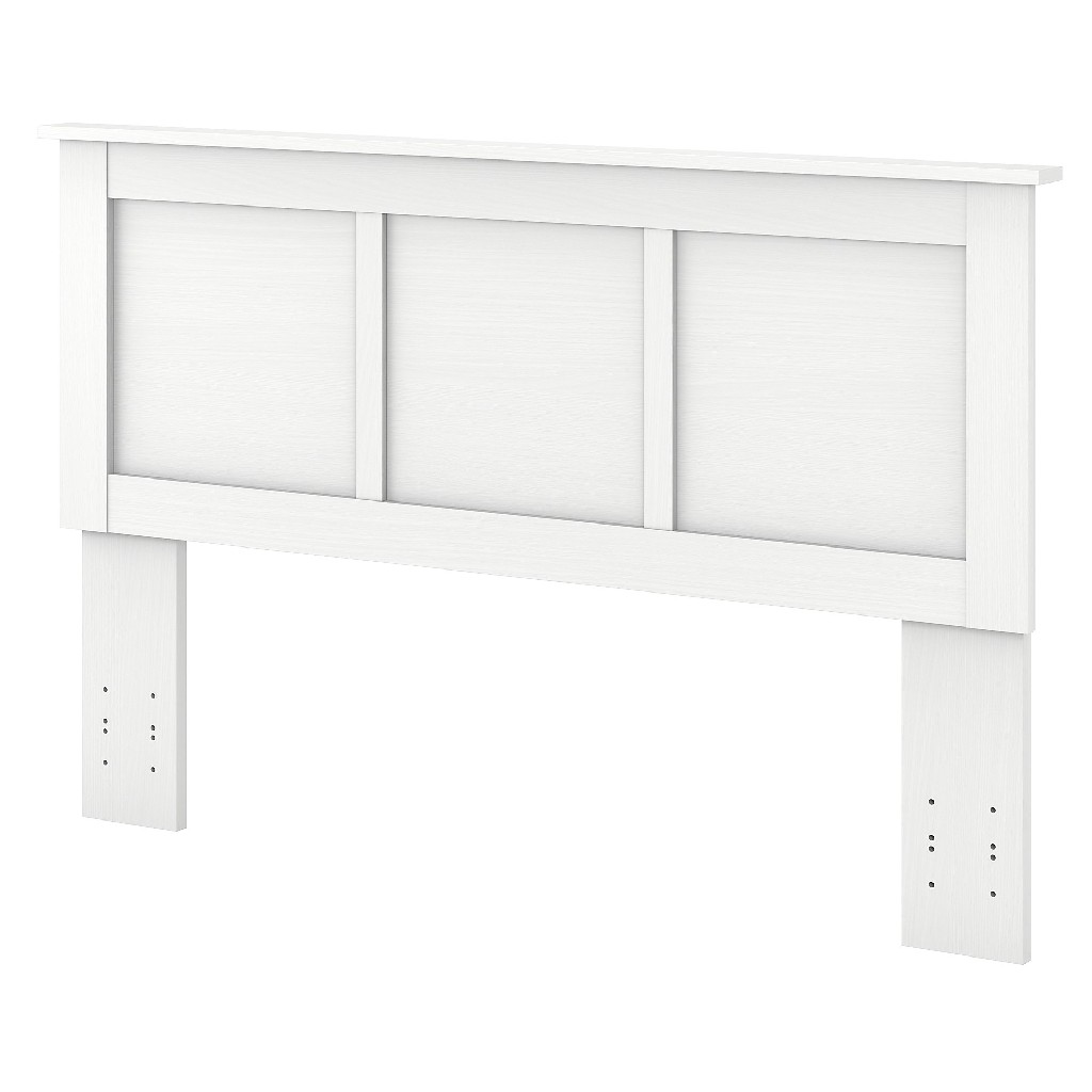 kathy ireland Home by Bush Furniture River Brook Full/Queen Size Headboard in White Suede Oak - Bush Furniture RBQ165WS