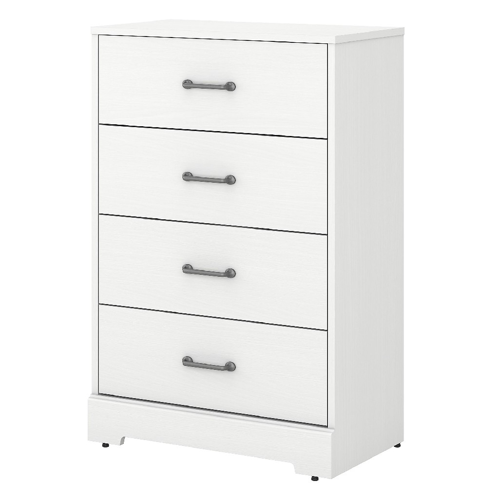 kathy ireland Home by Bush Furniture River Brook Chest of Drawers in White Suede Oak - Bush Furniture RBS132WS