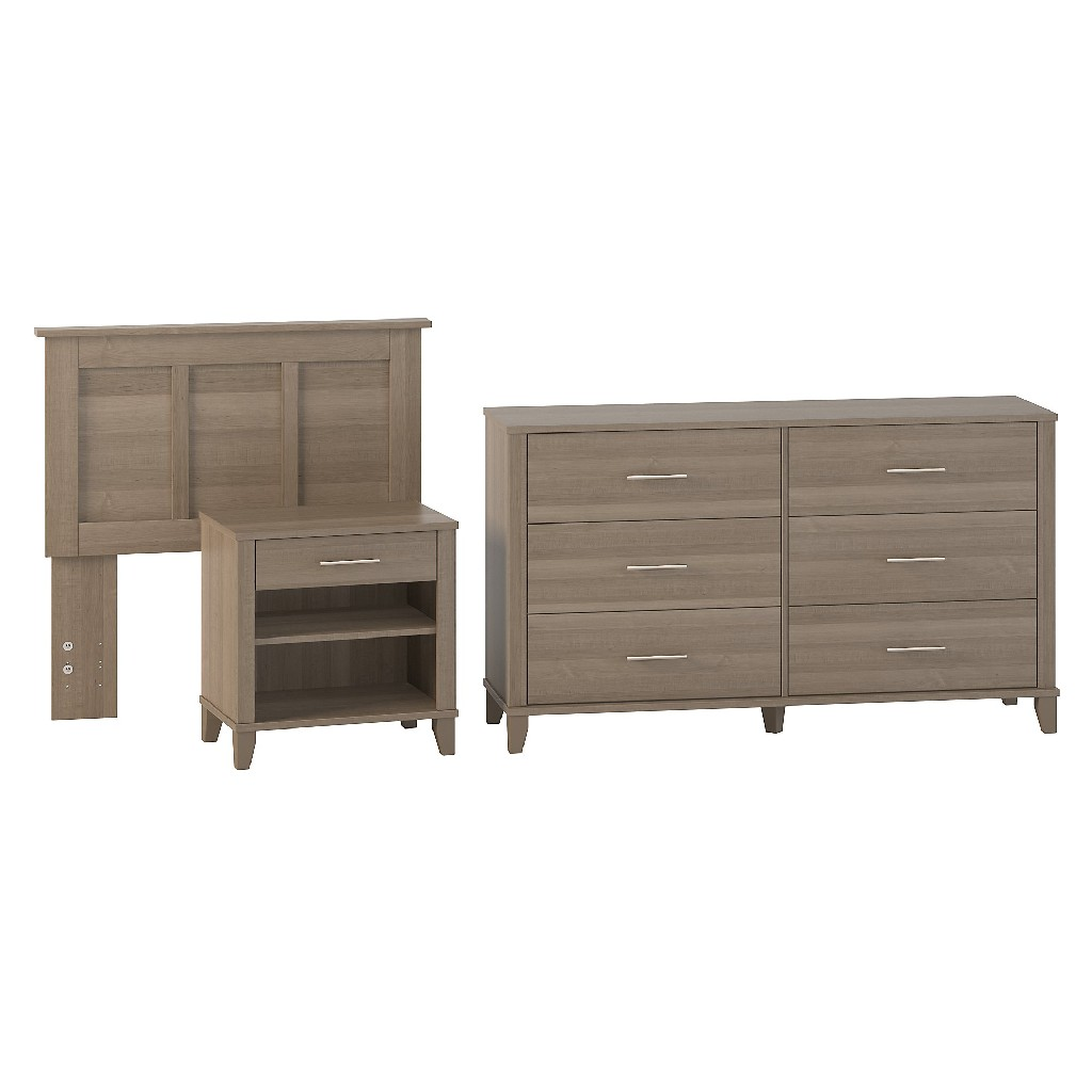 Bush Twin Headboard Dresser Nightstand Bedroom Set