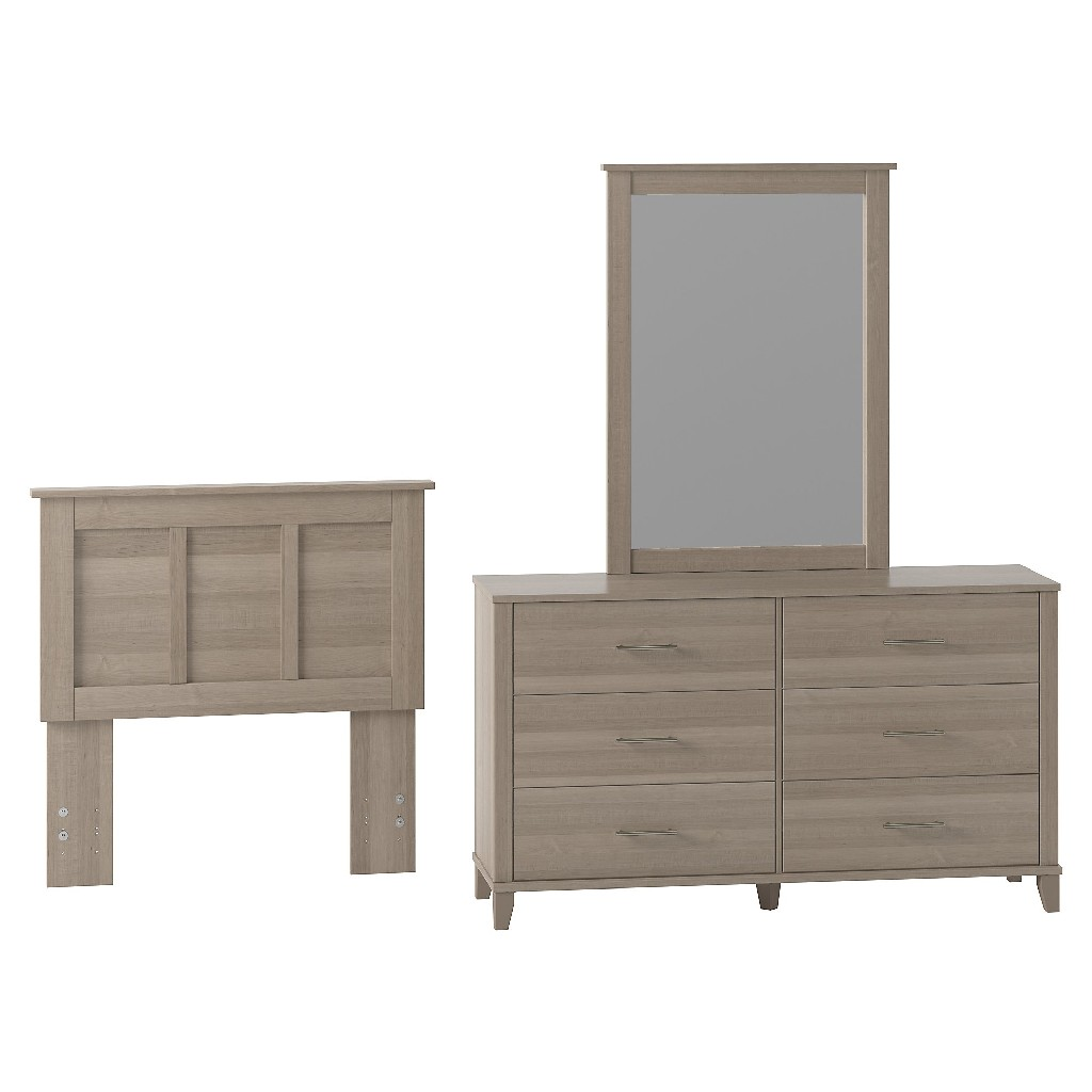 Bush Dresser Mirror Twin Headboard
