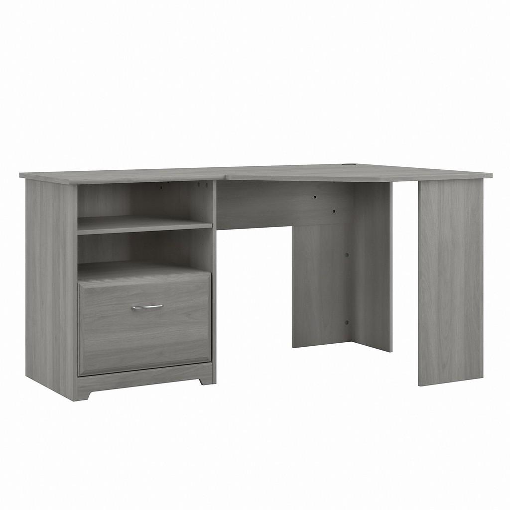 Bush Furniture Cabot 60W Corner Desk with Storage in Modern Gray - Bush Furniture WC31315-03K