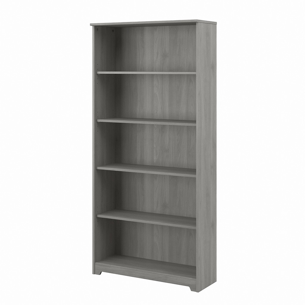 Bush Furniture Cabot Tall 5 Shelf Bookcase in Modern Gray - Bush Furniture WC31366-03