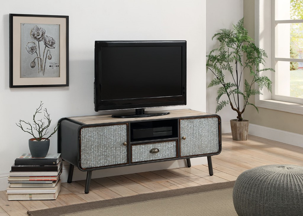 Entertainment Stand w/ 2 Doors And 1 Drawer - 4D Concepts 182023