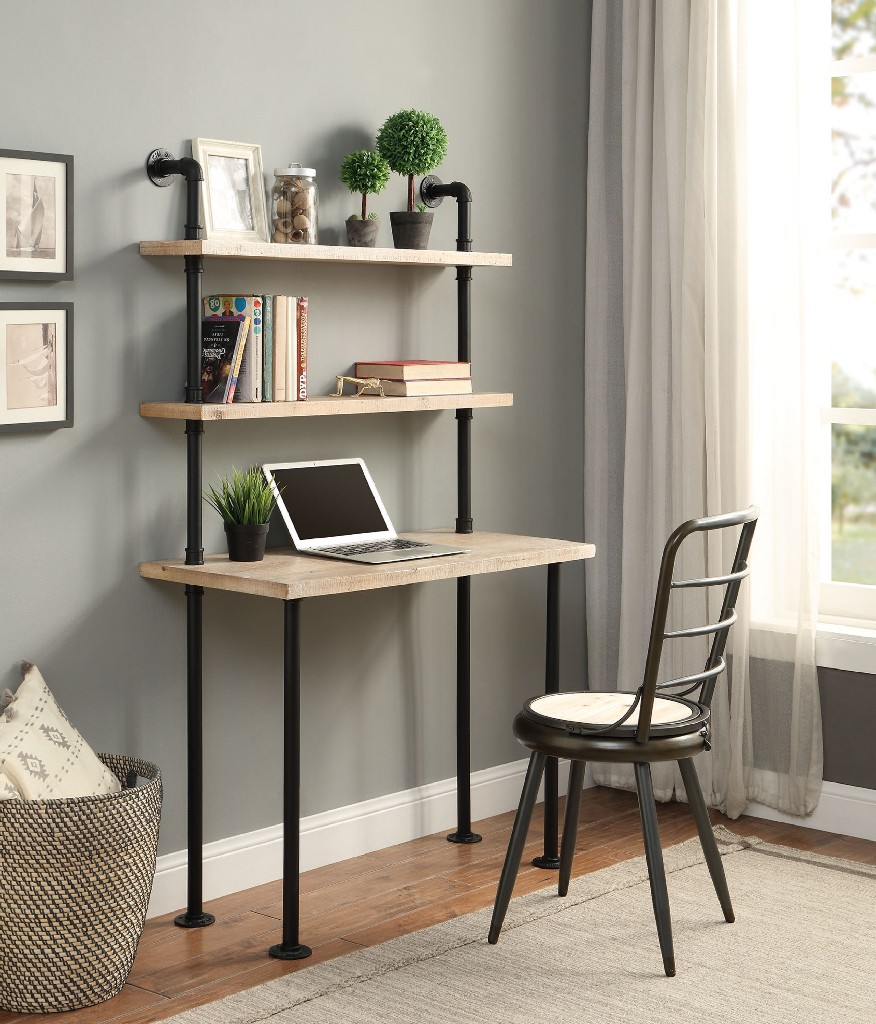 Wall Bookcase And Desk - 4D Concepts 182030