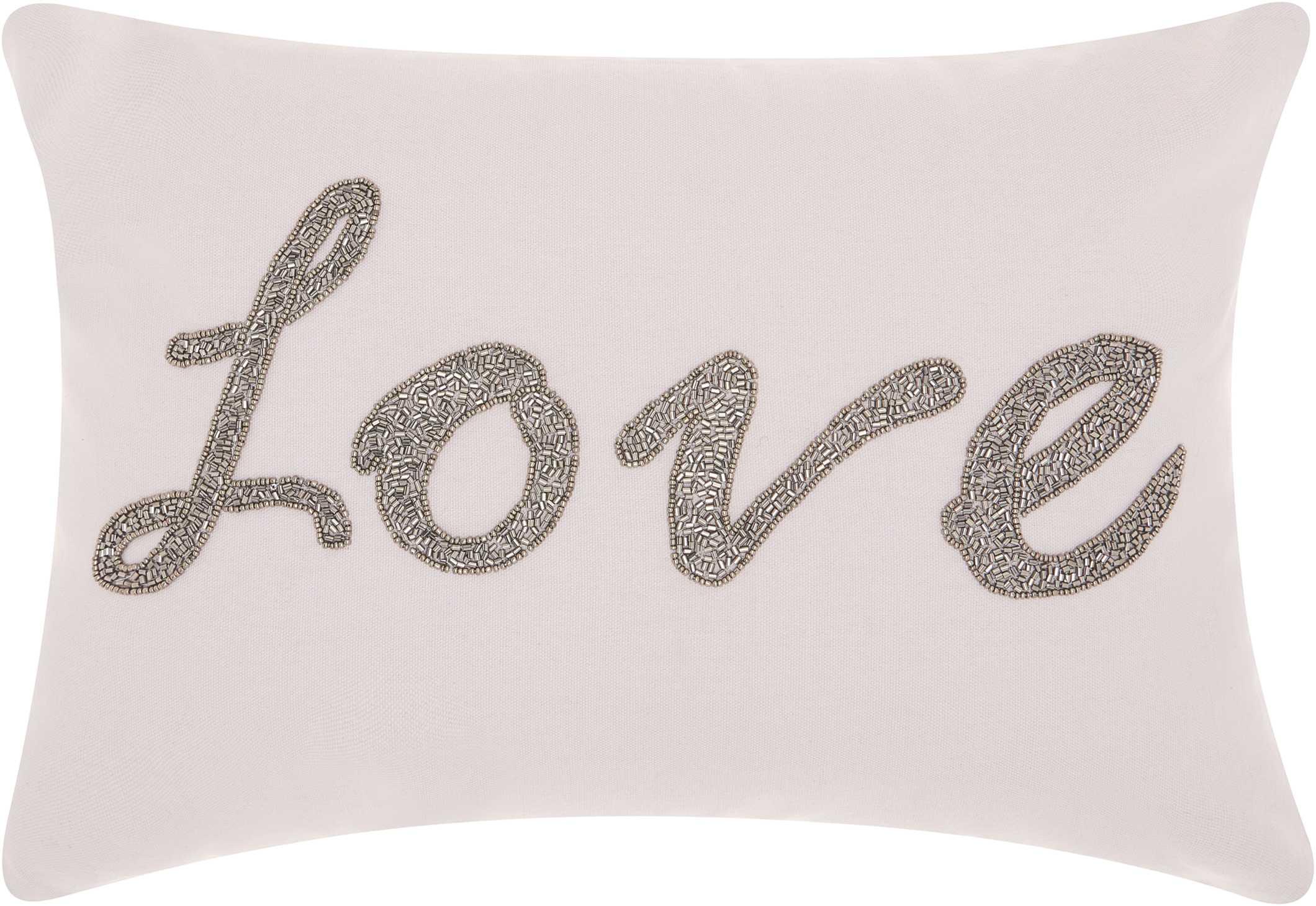 Nourison Mina Victory Mina Victory E0953 Pewter Decorative Pillow 20 X 20