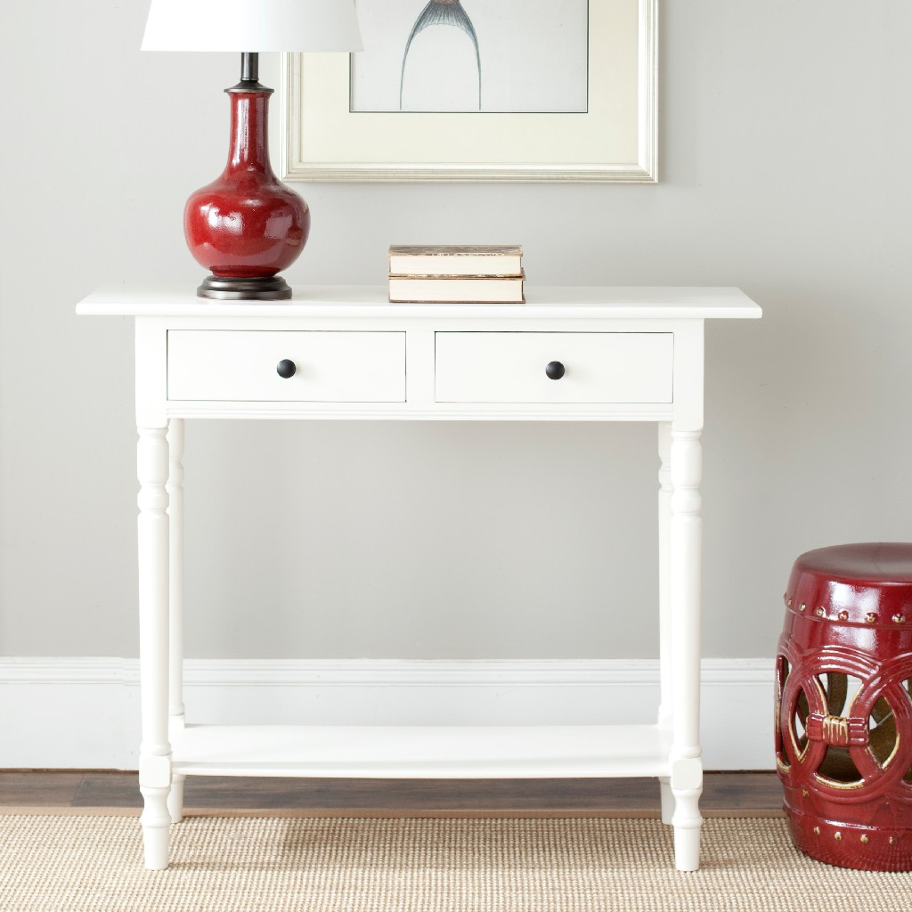 Awesome Rosemary 2 Drawer Console In Distressed Cream Safavieh Amh5705C Ibusinesslaw Wood Chair Design Ideas Ibusinesslaworg