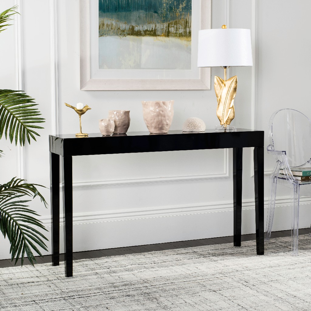 Superb Kayson Mid Century Scandinavian Lacquer Console Table In Ibusinesslaw Wood Chair Design Ideas Ibusinesslaworg