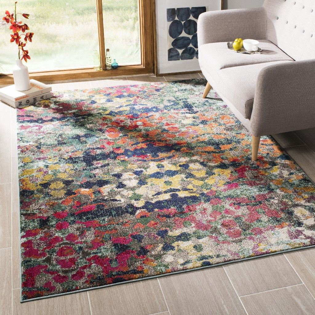 Collection   Safavieh   Green   Blue   Rug