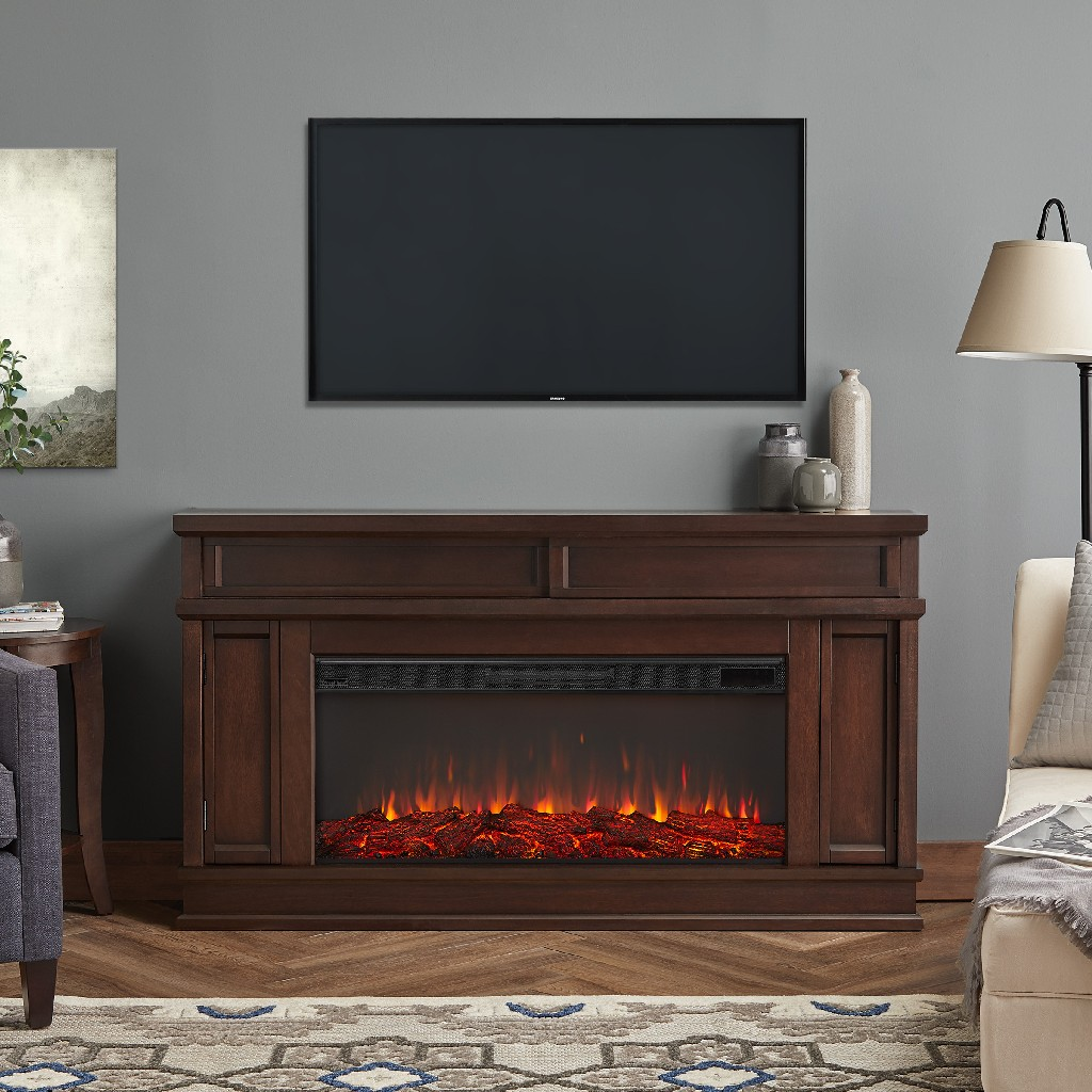 Torrey Electric Fireplace in Dark Walnut - Real Flame 4020E-DW