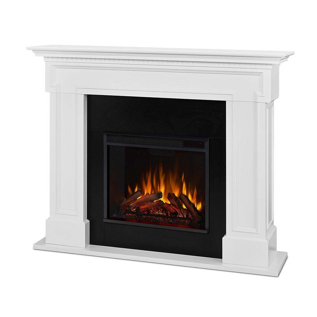 Thayer Electric Fireplace White - Real Flame 5010E-W
