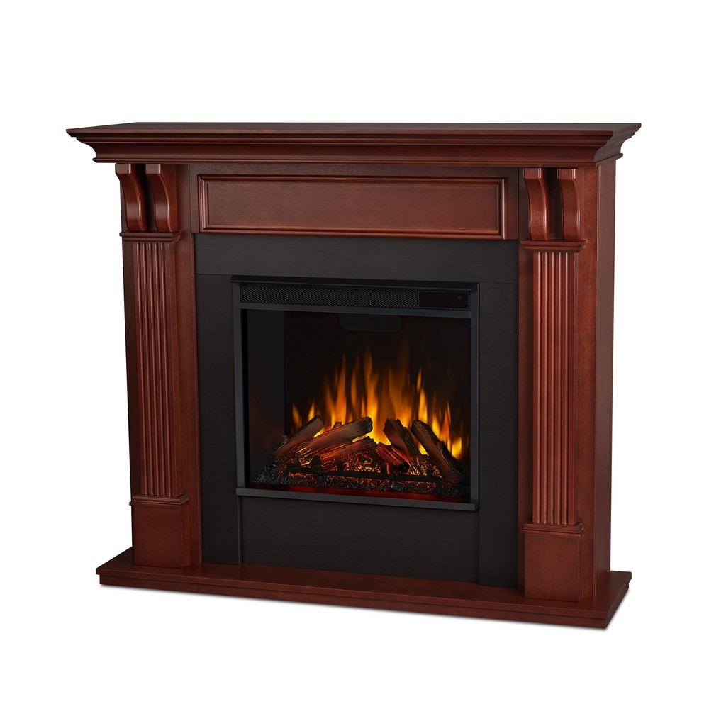 Ashley Indoor Electric Fireplace in Mahogany - Real Flame 7100E-M