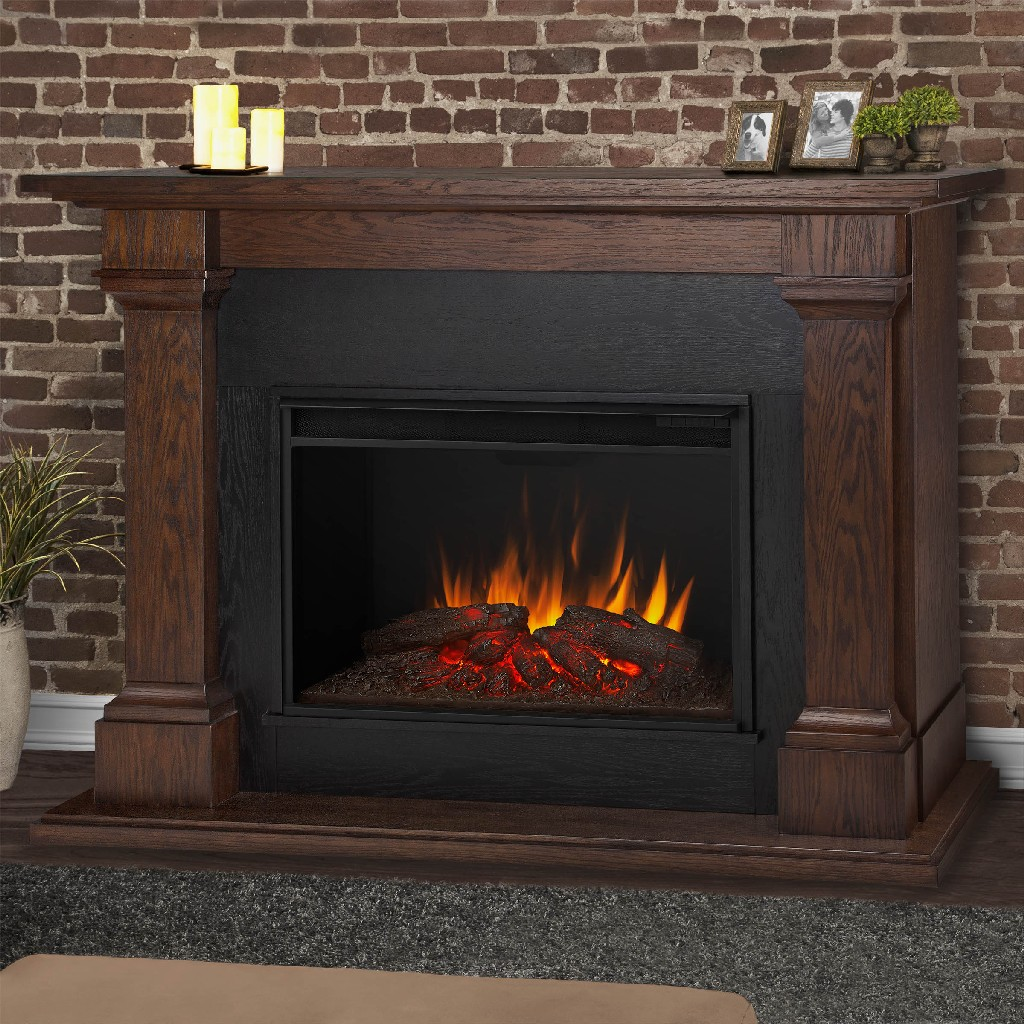 Real Flame Callaway Grand Electric Fireplace Chestnut Oak