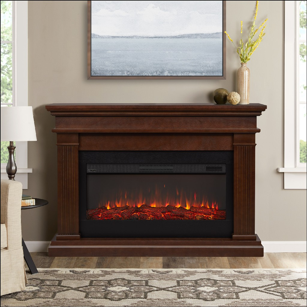 Real Flame Beau Electric Fireplace Dark Walnut