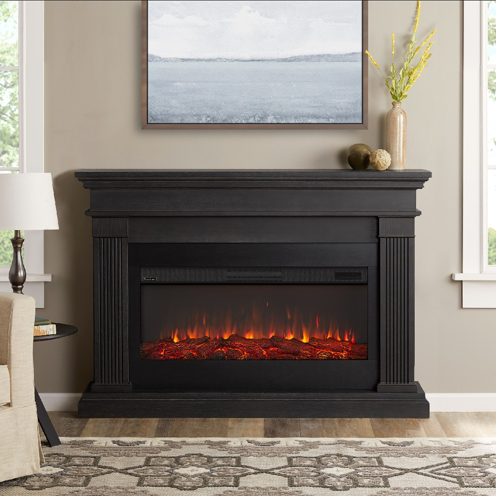 Real Flame Beau Electric Fireplace Gray