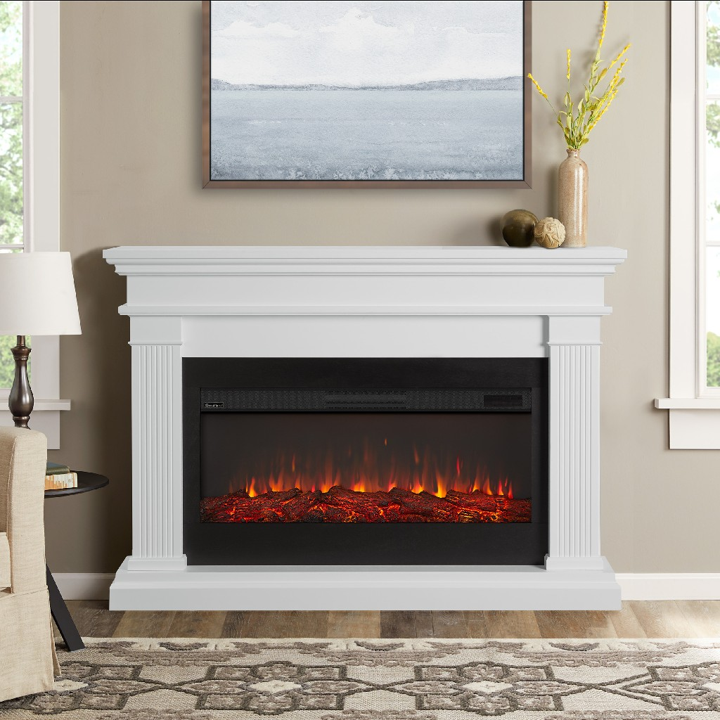 Real Flame Beau Electric Fireplace White