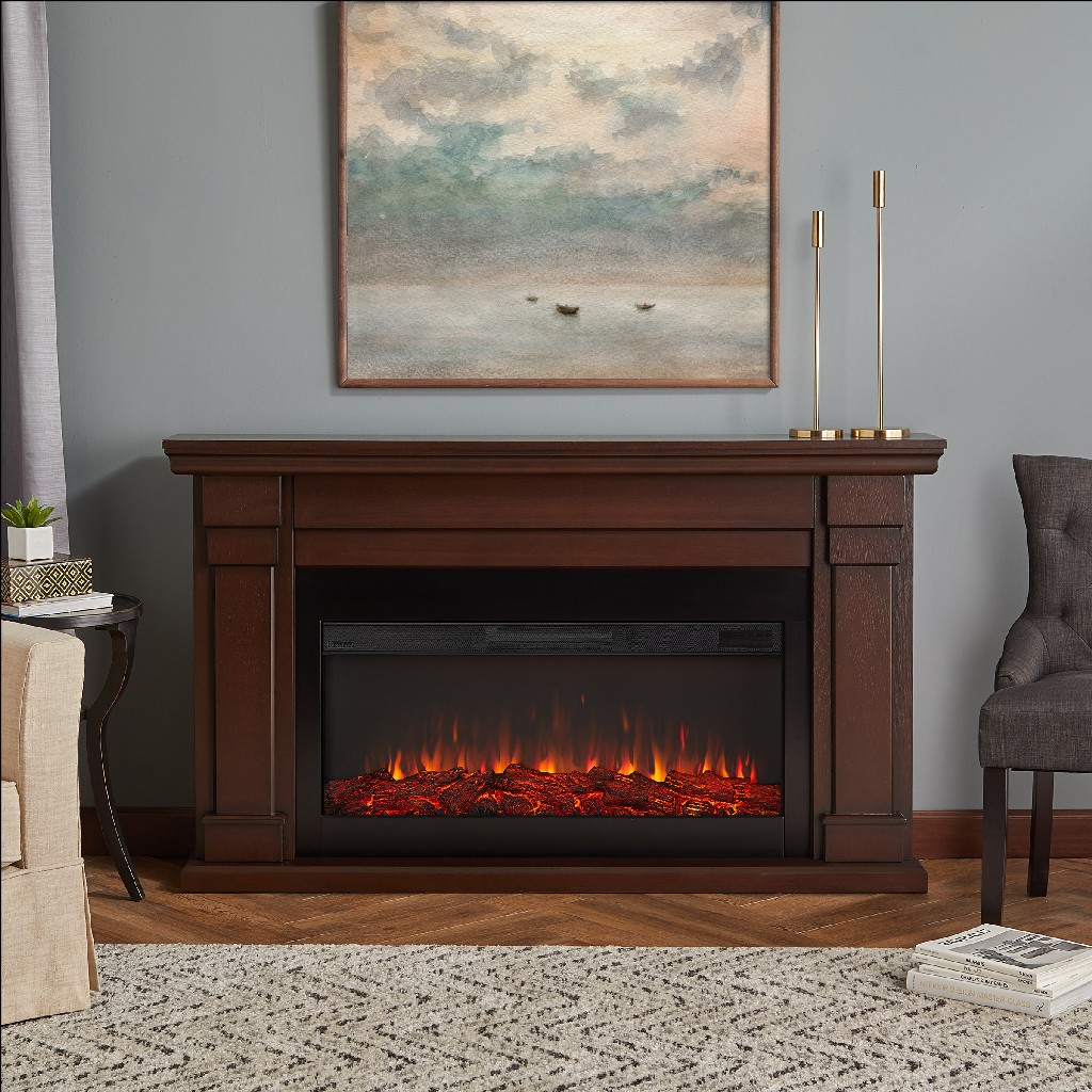 Real Flame Electric Fireplace Chestnut Oak