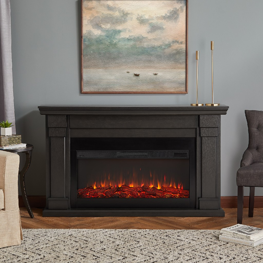 Carlisle Electric Fireplace in Gray - Real Flame 8230E-GRY