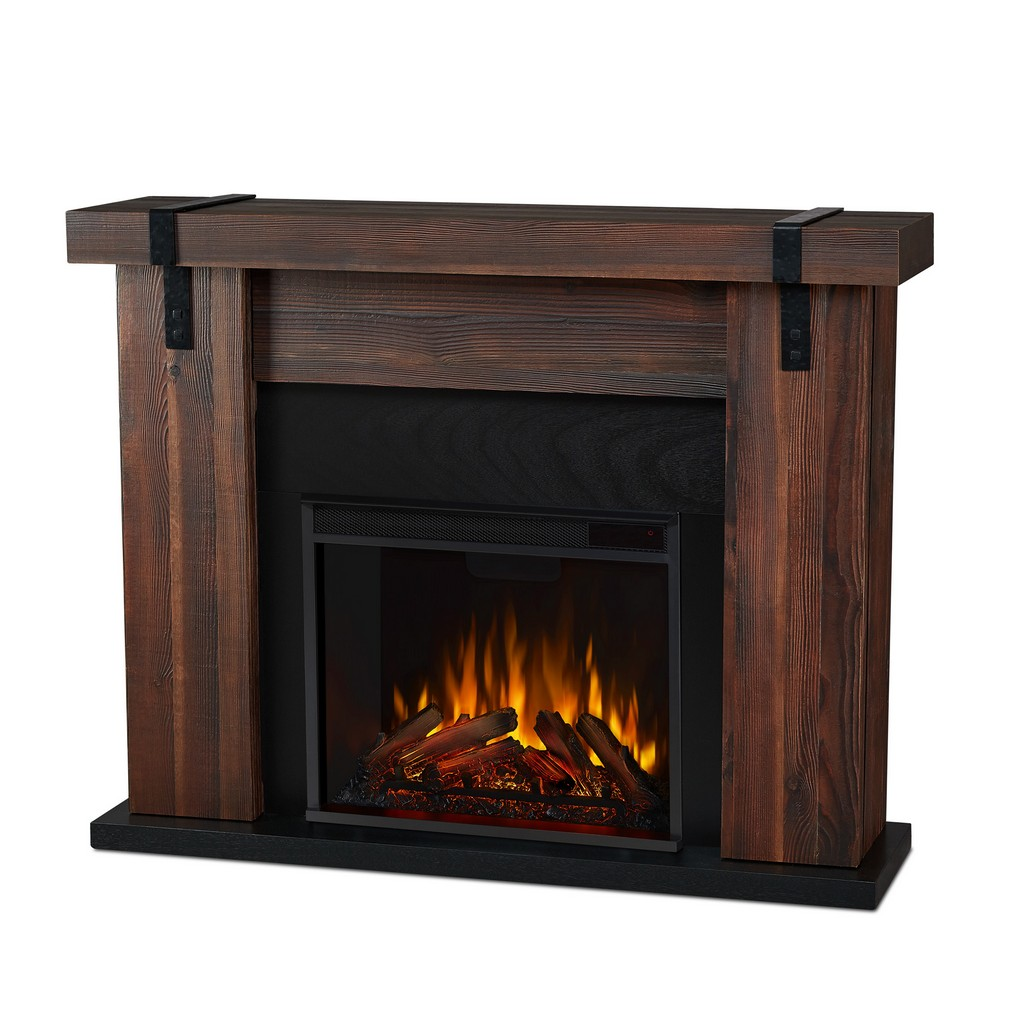 Aspen Electric Fireplace in Chestnut Barnwood - Real Flame 9220E-CHBW