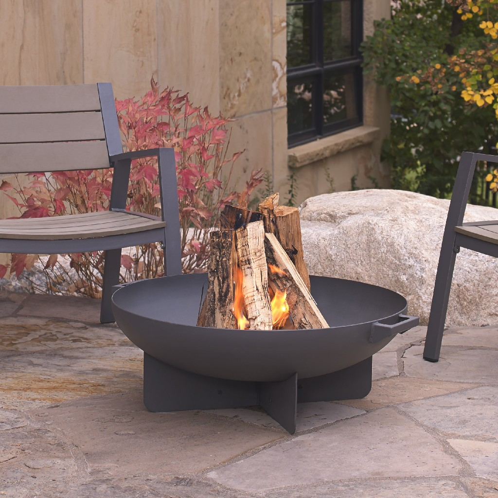 Anson Fire Bowl in Gray - Real Flame 958-GRY