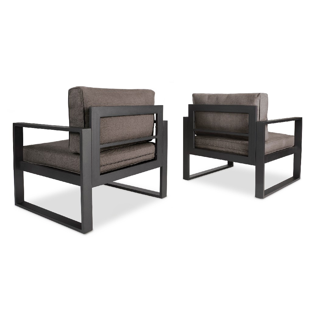 Baltic Casual Chair Set in Black - Real Flame 9611-BK