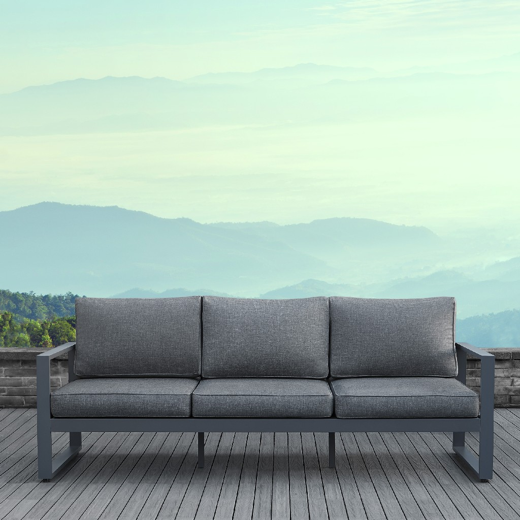 Baltic Sofa in Gray - Real Flame 9621-GRY