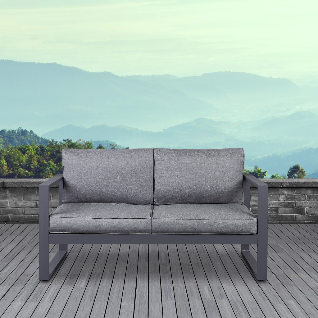 Baltic Loveseat in Gray - Real Flame 9624-GRY