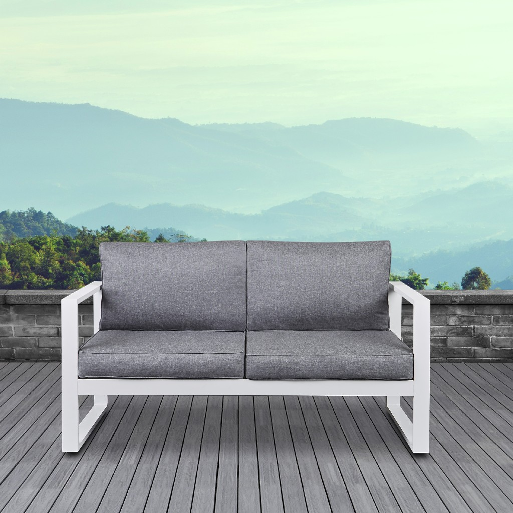 Baltic Loveseat in White - Real Flame 9624-WHT