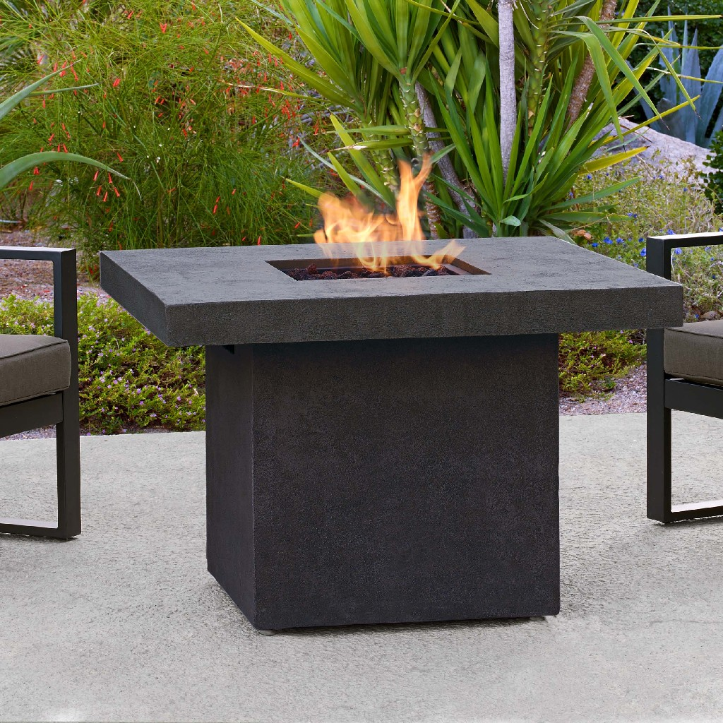 Real Flame Ventura Square Chat Height Propane Fire Table Kodiak