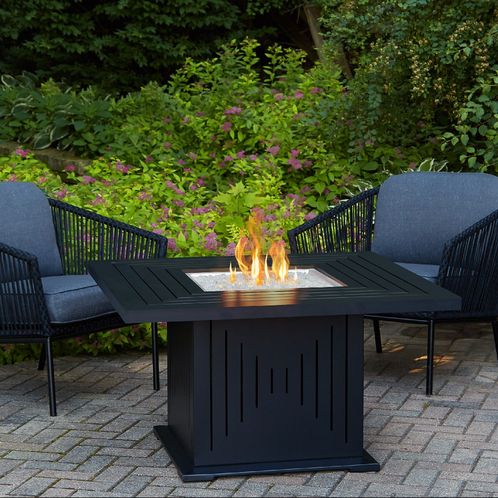 Real Flame Cavalier Propane Fire Table Black Natural Gas Conversion Kit